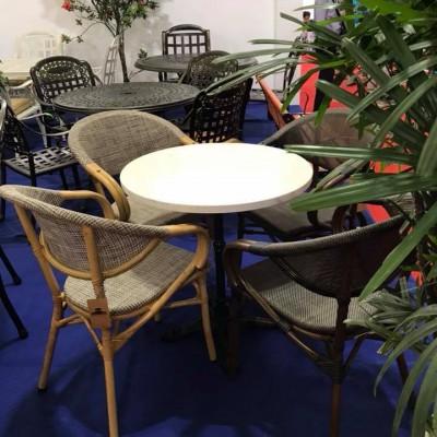 Bộ bàn ghế Textiline sơn tĩnh điện màu xám