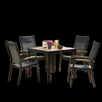 Bộ bàn ghế nhôm đúc ngoài trời
