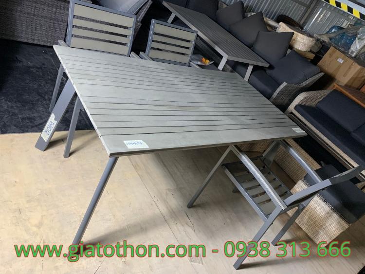 bàn ghế khung sắt giá sỉ
