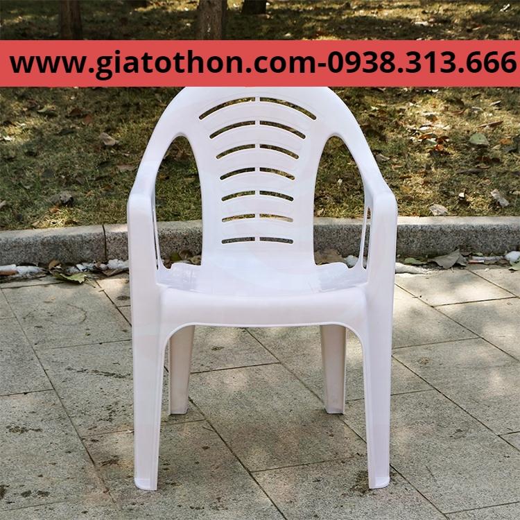 ghế nhựa tựa lưng